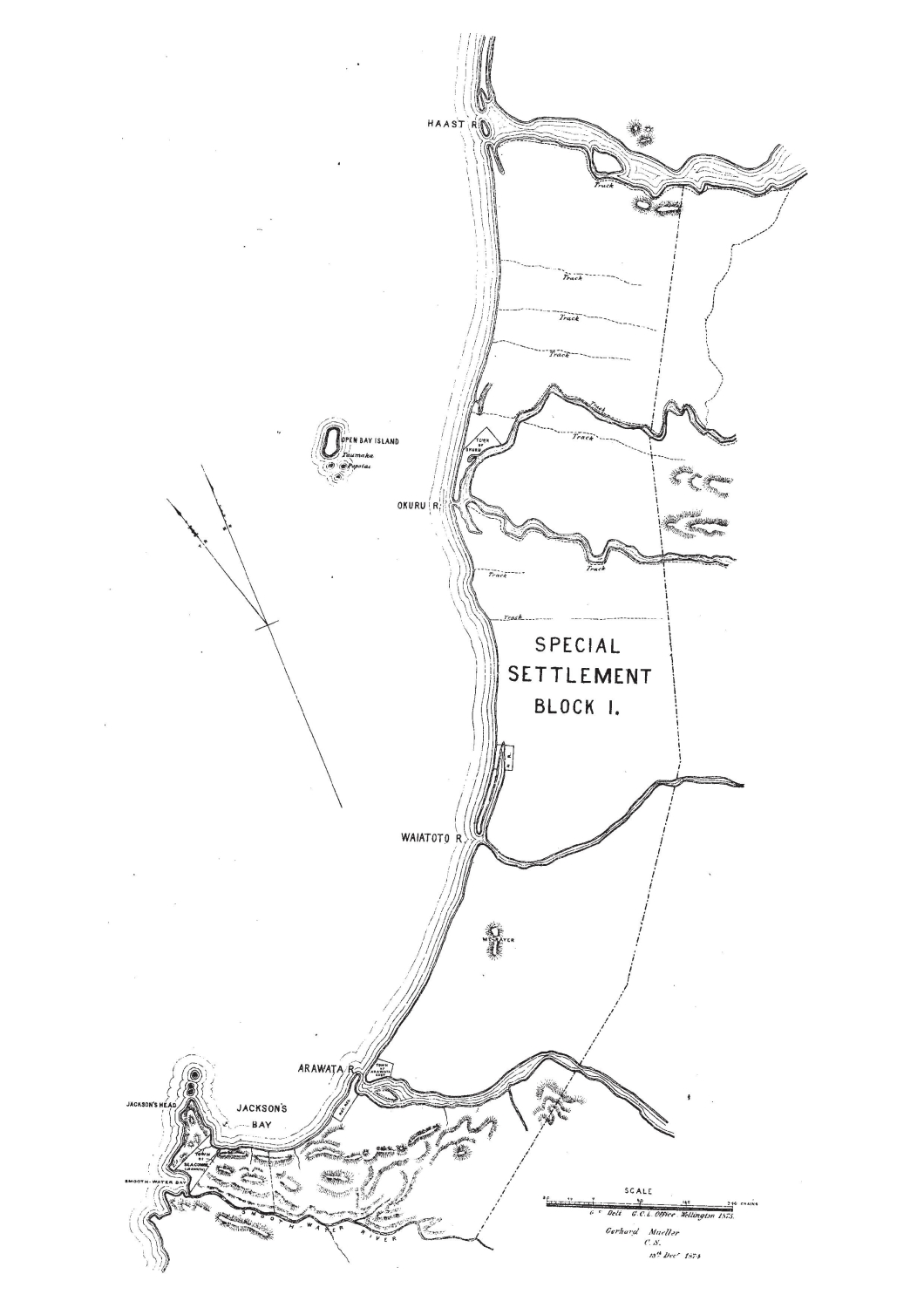 Map Jackson's  Bay Special Settlement