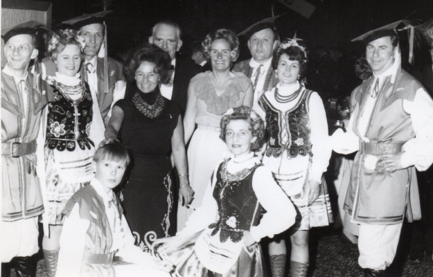 Some of the  dancers with guests at the 25th anniversary celebrations.