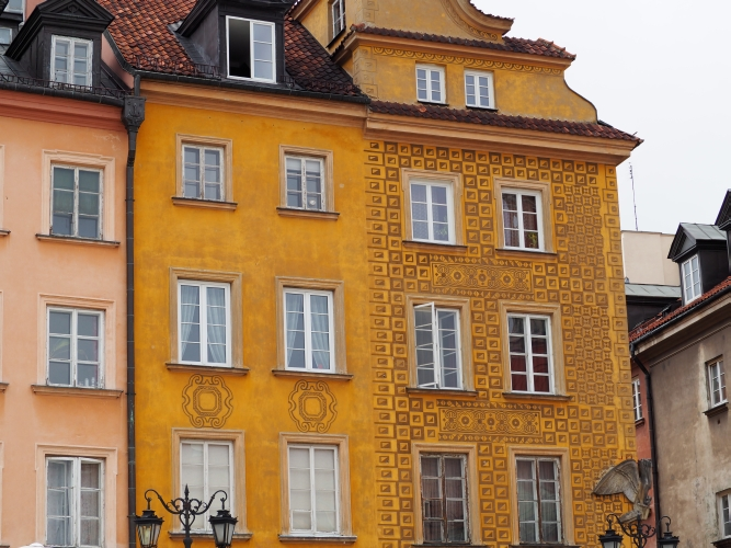 Some restored  houses in Warsaw's Old Town