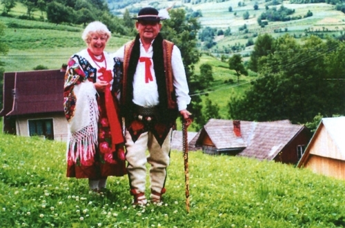 Joe and Joy Jagiełło  in costume in Poland.