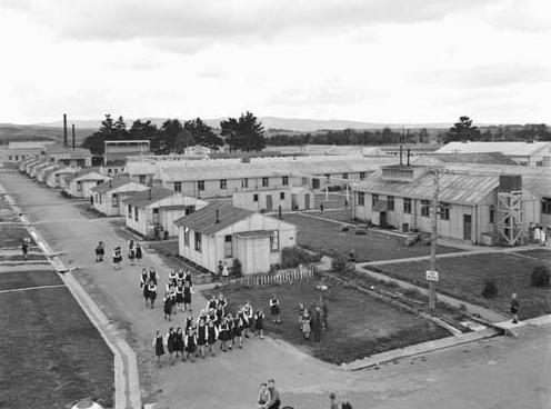 Aerial photograph  of Pahiatua camp