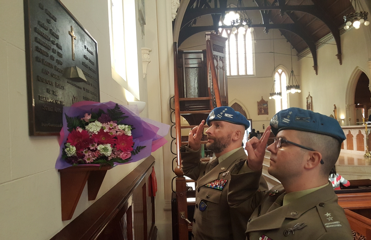 Inside the cathedral, close-up 