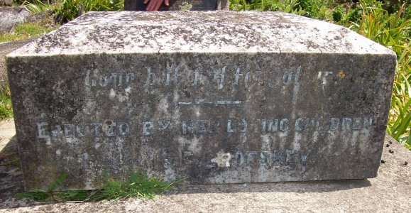 Franciszka Crofskey's stone in Midhurst cemetery