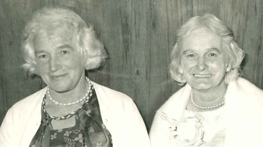 Lillian Raill and Mabel Autridge