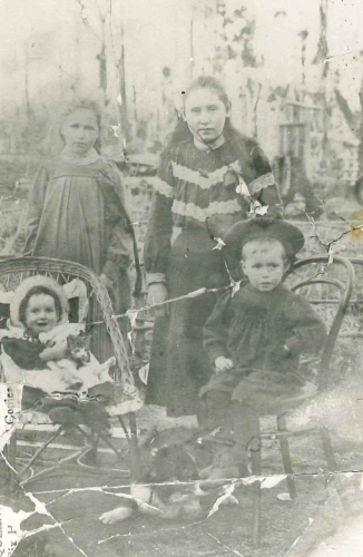 Rose Ryan, Annie Crofskey, Nell Blake and David Ryan