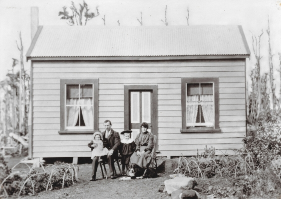 Martin and Mary Ryan outside their first home