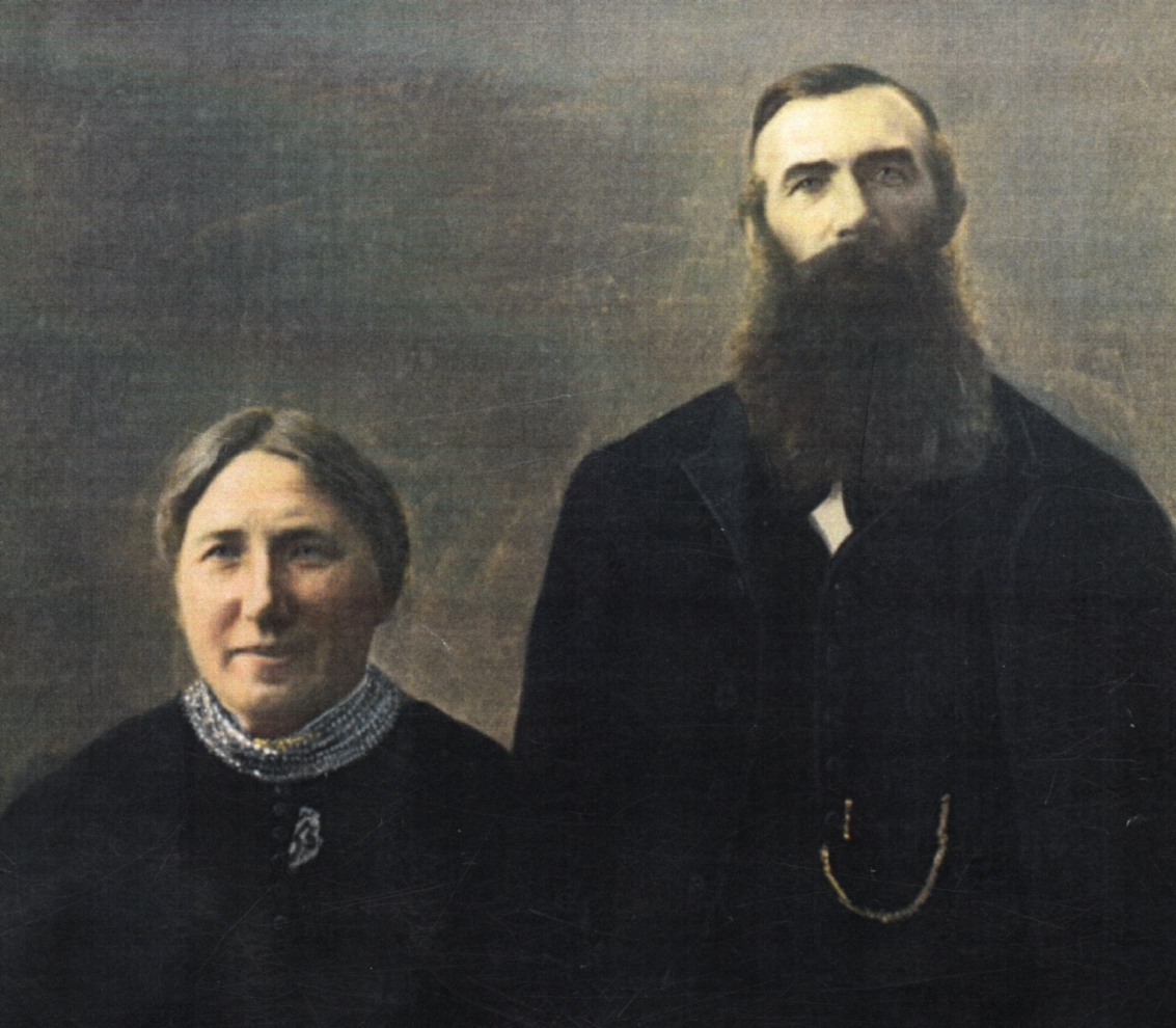 A painting of Josephina and Matthaeus Lewandowski.