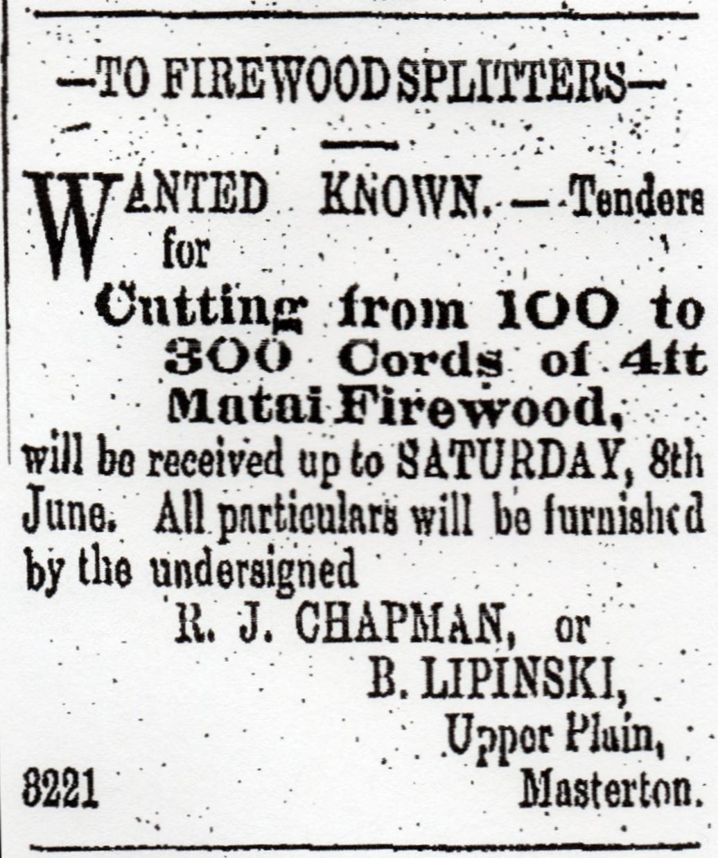 An advert  for firewood splitters.