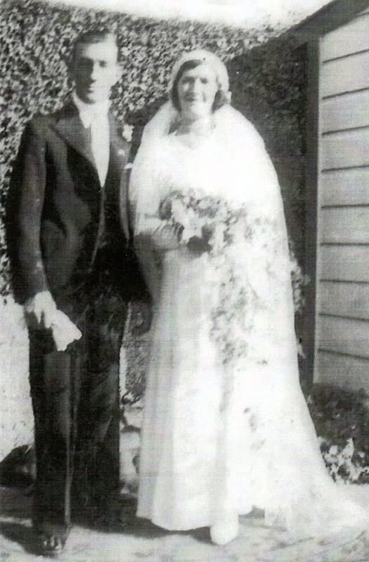 Alex and Margaret on their    wedding day