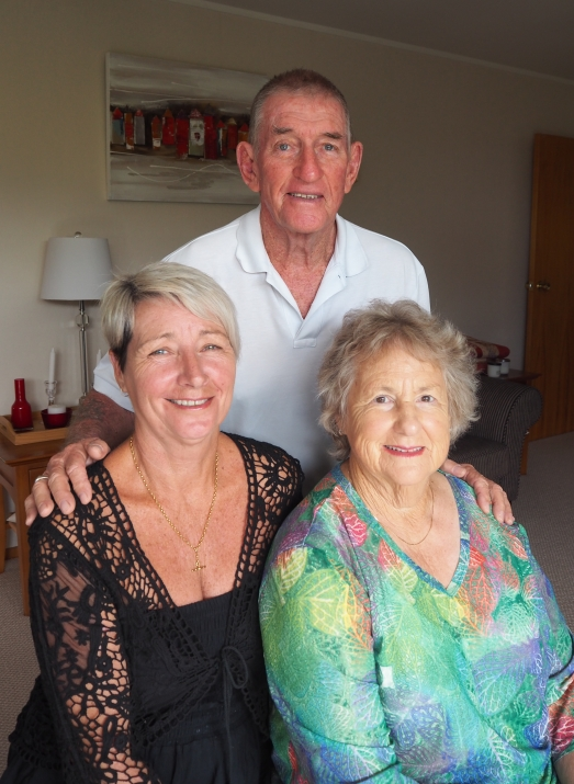 Ken Luskie with his  wife, Sue, and his sister-in-law, Pat