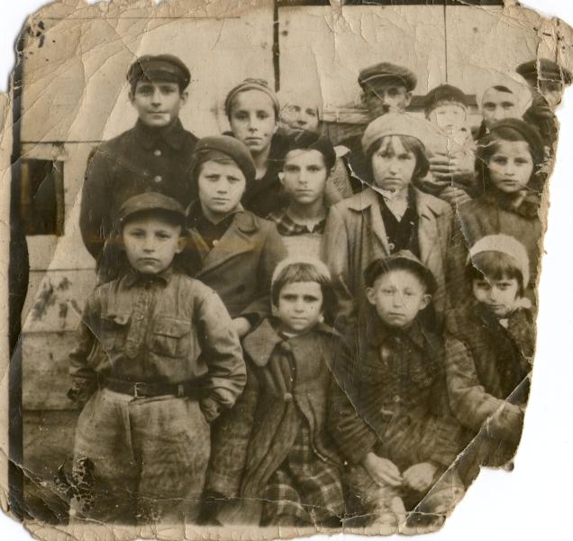 Marchewa and Sobolewski families, probably early winter 1939-1940.