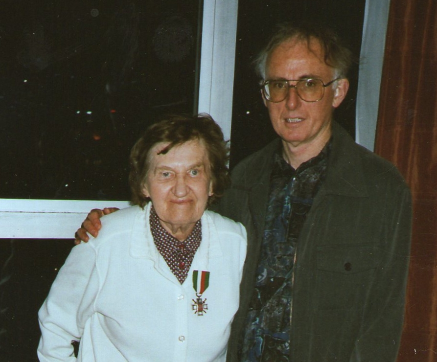 Janina and Stephen Bryson on the night she received the Siberian Cross