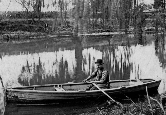 Joseph Watemburg on the   Avon river
