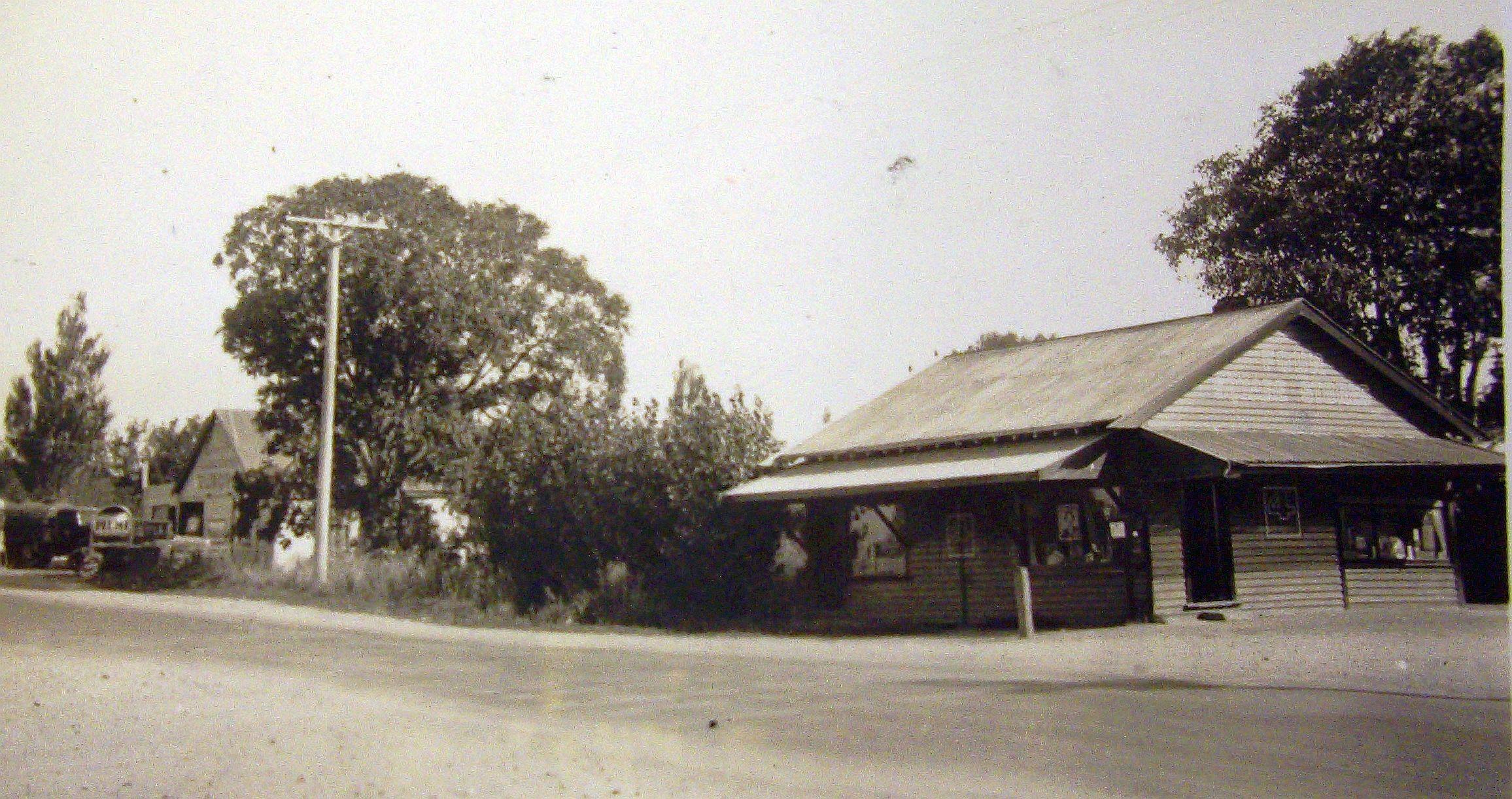 Marshland's general  store opposite the school