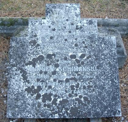 Headstone of   Mathew and Julia Schimanski, Linwood cemetery