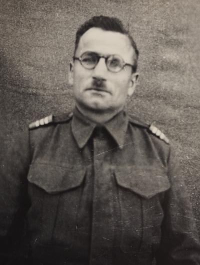 Stanisław  Nieścior in Polish army uniform