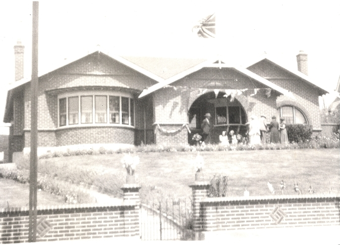 Orlowski  house during the Royal visit