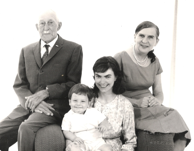 JA Orlowski with daughter Rayena, granddaughter Janice and great-grandson Robert