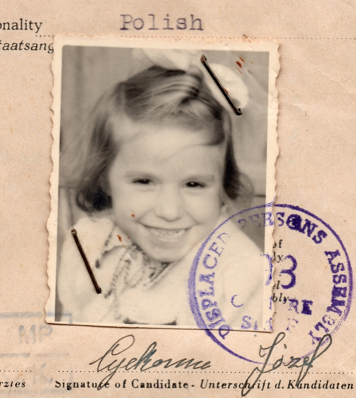 The sepia  headshot of a five-year-old Zenona that appears on her official IRO medical certificate.