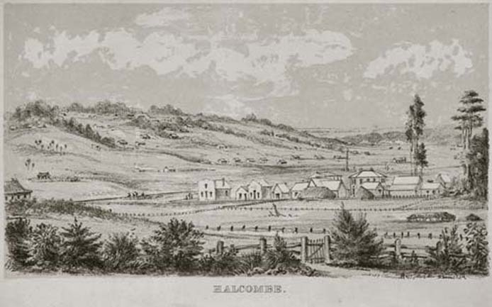 Halcombe in the  1870s