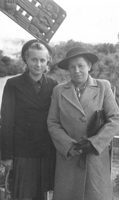 Anna and  Waleria Zatorska in Rotorua