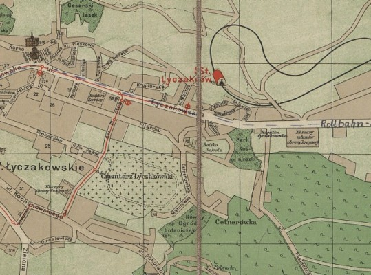 Close-up map  showing Adam's street