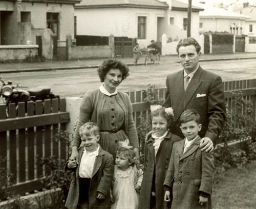 Ginter and Ula Poczwa  with their four children