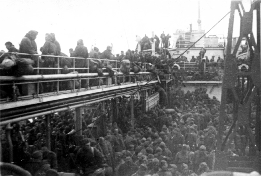 One of the  vessels carrying Poles from Krasnovodsk to Pahlevi 1942