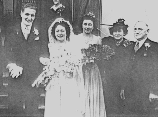 Leila  Voitre's wedding group