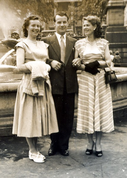 Bill and Wisia  Watkins with a friend in London circa 1950s