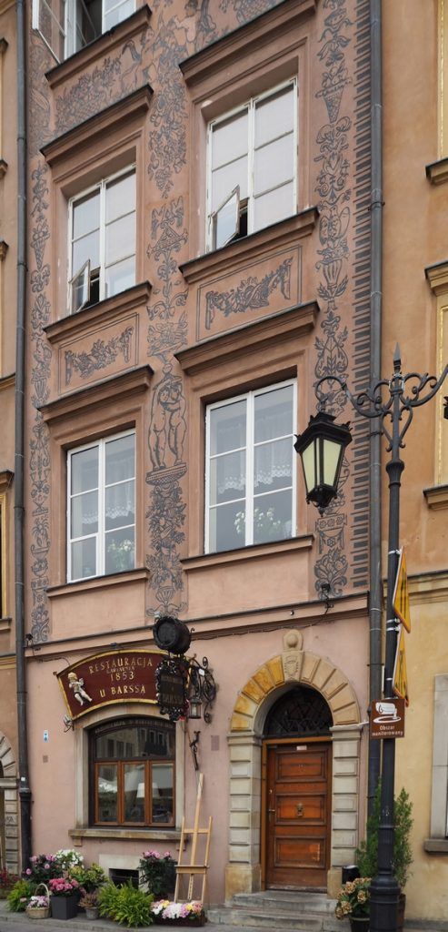 an old building adorned with intricate paintwork